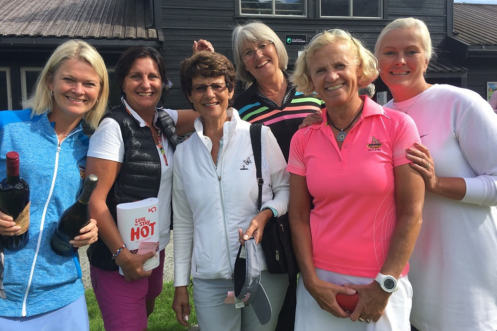 Flinke BGK damer. Fra venstre: Anita Sognnes, Agatha Bøe Risa, Siren Bartnes, Siren Larsen, Mette Thormodesen og Marit Brochmann.