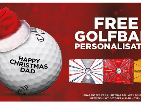 Julekampanje på golfballer