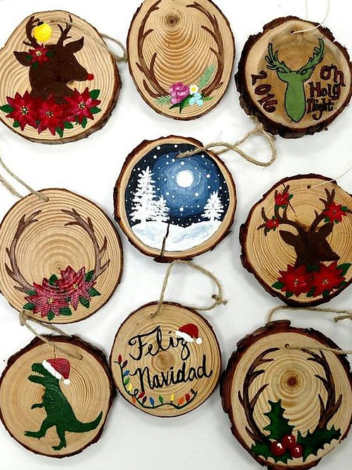 Custom Wooden Ornaments (pack of 2)