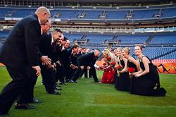 Bronco Football field wedding