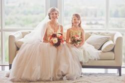 Colorado Bride and flowergirl