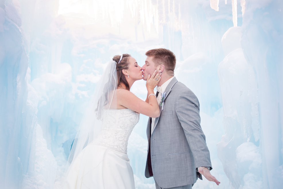 Peter & Julie's Bridal Session at the Breckenridge Ice Castles