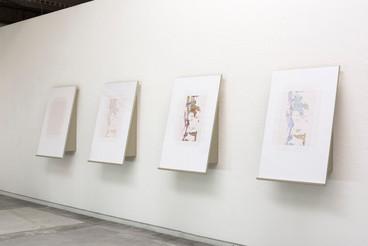installation views Back Juice drawings