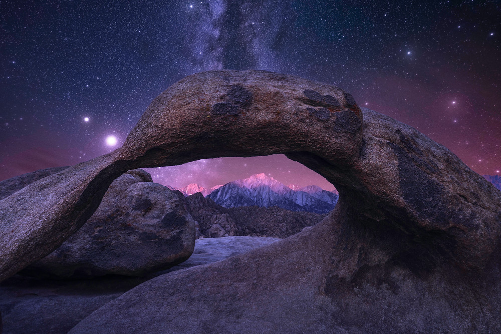 Alabama Hills Arch With Milky Way