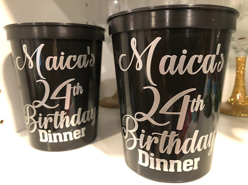 Birthday Favor Drinking Cups