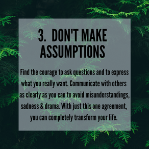 Four Agreements - 3. Don't Make Assumptions