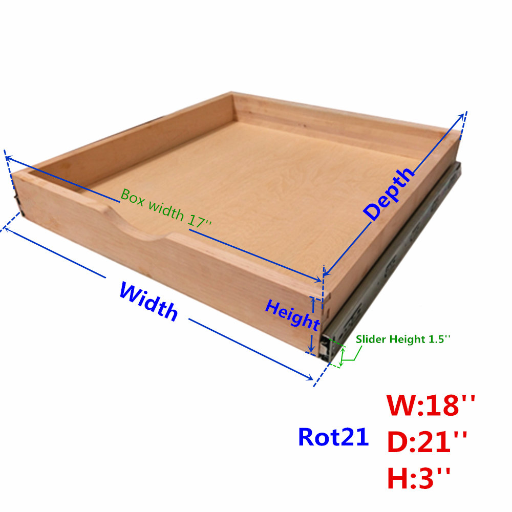 Roll Wood Tray Drawer Box Kitchen Organizer Cabinet Slide Out Shelve Pull Out Elysian Happy Shop