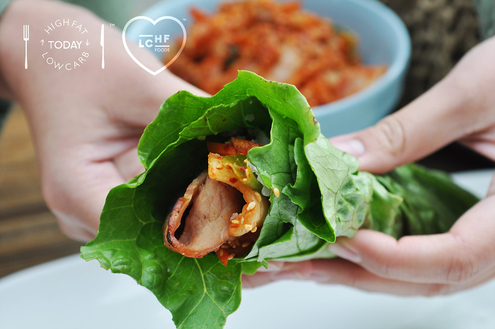 LCHF TODAY Kimchi in a salad wrap