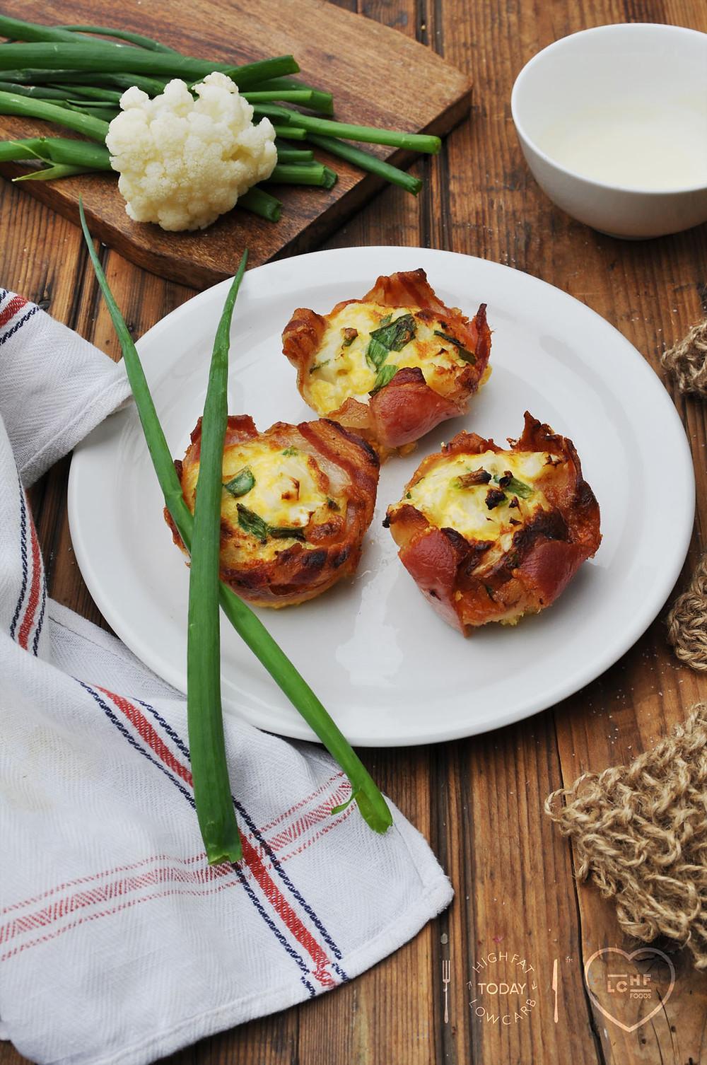 CYMATTATA served with spring onion garnish