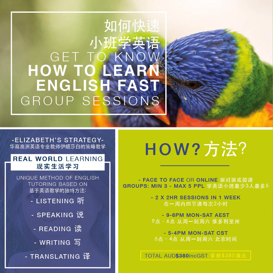 GROUP SESSIONS ENGLISH