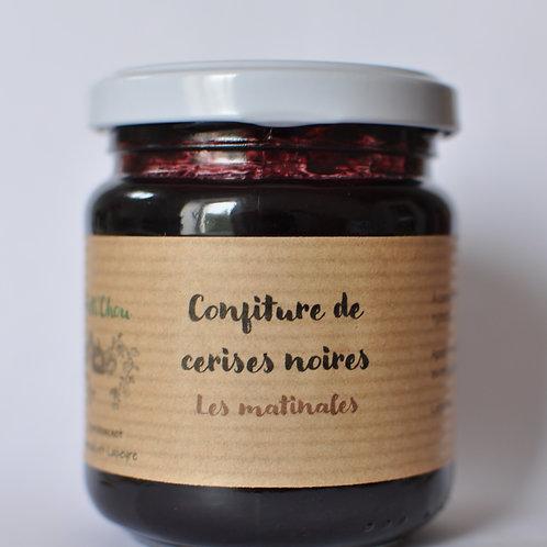 Confiture de cerises noires