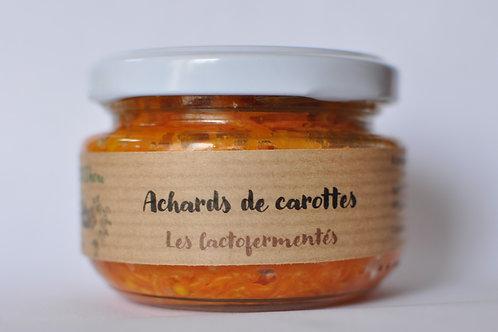 Achards de carottes