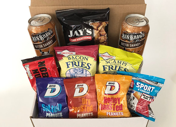 Pub In A Box - All Your Favourite Snacks with A Shandy or Two