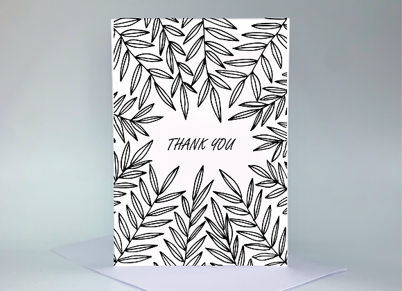 Thank You Card - Leaves