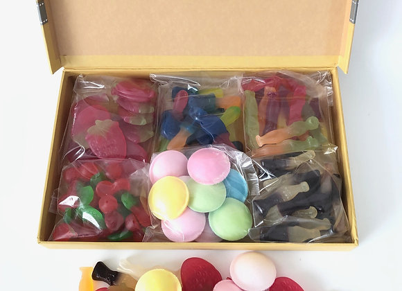 Vegan Grey Ribbon Pic n Mix Gift Box