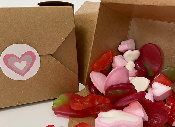 Valentines Pic N Mix Treat Boxes - Available in Standard or Gluten Free