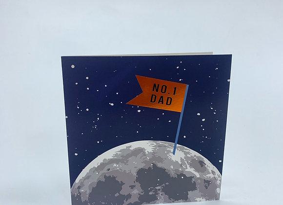 NO 1 Dad Moon Card