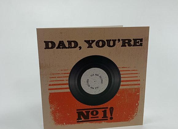 Dad No 1 Record Card
