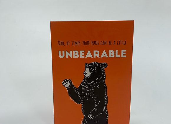 Fathers Day Bear Card