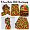 """Thumbnail: KENTE Cloth X Long 72""""×22"""" Dashiki Wrap/ for Women - Green, Black & Orange  Head"""