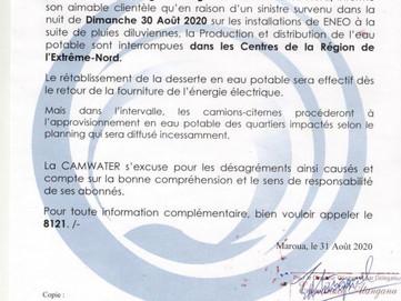📣 Communiqué : Interruption de la production et de la distribution l'approvisionnement de l&#39