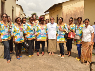 Camwater Women Association: Donation ceremony at the Dibamba leper-house