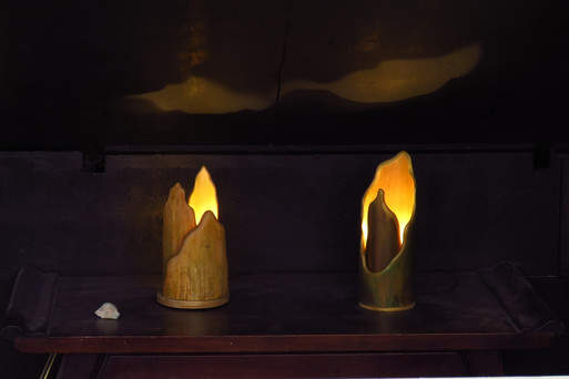 Mountains on the Table - bamboo led lighting
