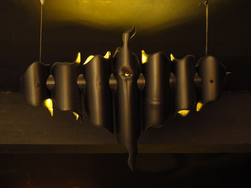 BLACK SPIRT - light sculpture - original bamboo led lamp