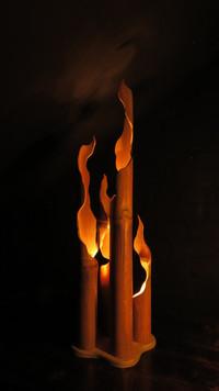 CAMP FIRE - light sculpture - original bamboo led lamp