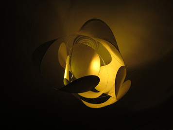 SPINNING PLANET - rice paper led lamp