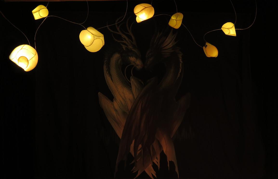 rice paper pendant Lights