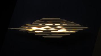SUNSET ON SEA - light sculpture - original bamboo led lamp