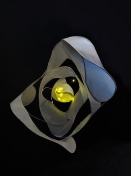SMOKE - rice paper led lamp