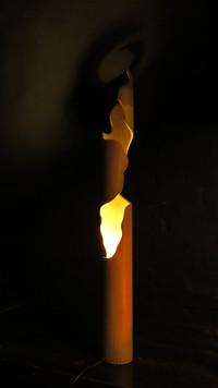 RIVER GODDESS (M) - light sculpture - original bamboo led lamp