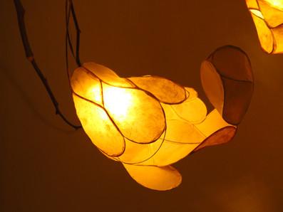 rice paper flower lamp