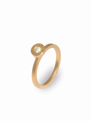 Balance Ring in Gelbgold