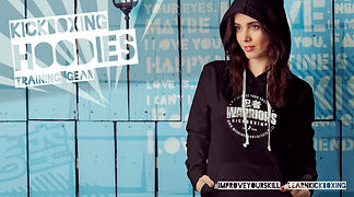 woman in warriors hoody