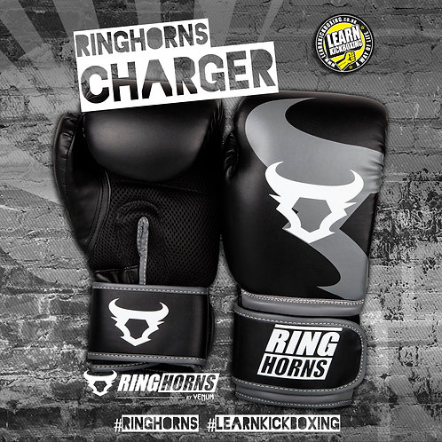 RINGHORNS BOXING GLOVES - BLACK