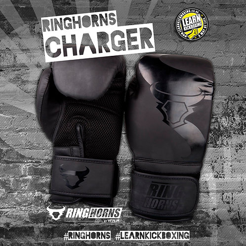 RINGHORNS BOXING GLOVES - BLACK/BLACK