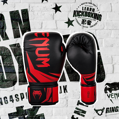 VENUM CHALLENGER BOXING GLOVES BLACK / RED