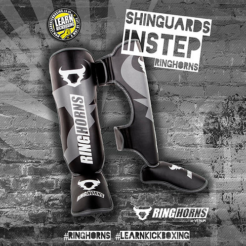 RINGHORNS SHINGUARDS INSTEPS - BLACK