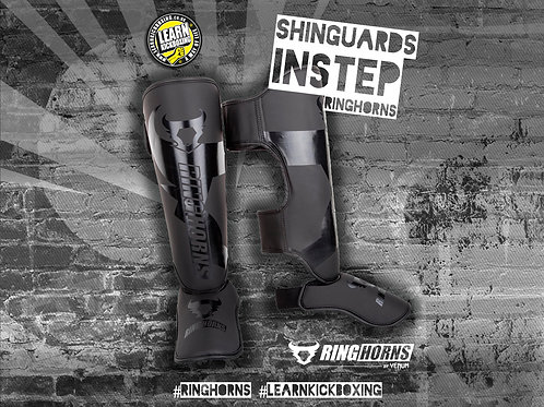 RINGHORNS SHINGUARDS INSTEPS - BLACK-BLACK