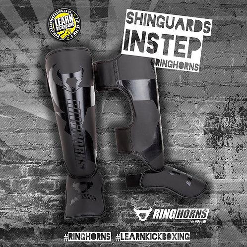 RINGHORNS SHINGUARDS INSTEPS - BLACK-BLACK