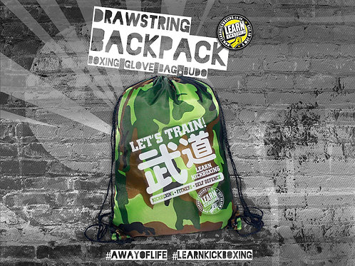 Budo Drawstring Camo Glove Bag / Backpack