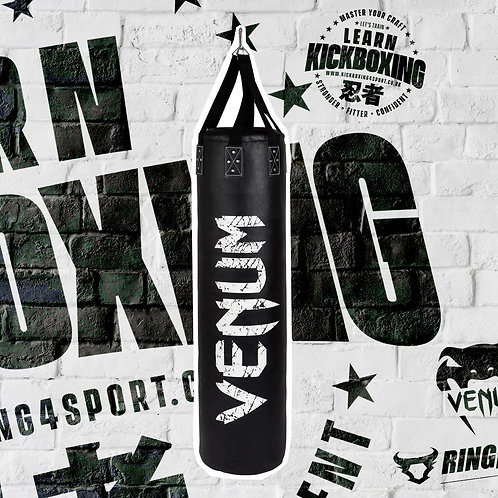 VENUM CHALLENGER PUNCHING BAG - BLACK - 170 CM - FILLED