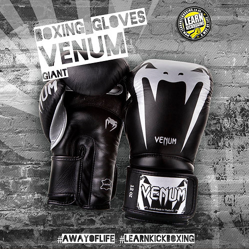 VENUM GIANT 3.0 BOXING GLOVES Black / Grey