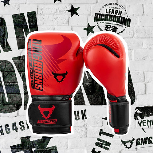 RINGHORNS CHARGER MX BOXING GLOVES - RED/BLACK
