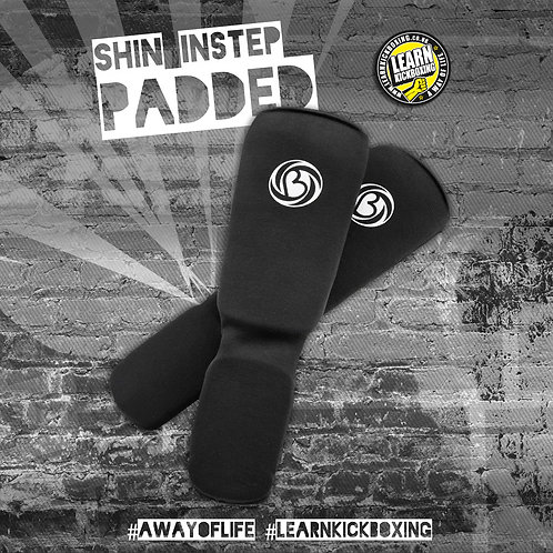 PADDED SHIN INSTEP SUPPORT BLACK
