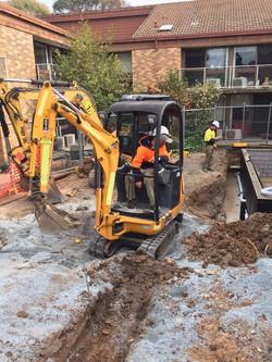 JCB canberra excavator