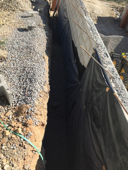 Backfill retaining wall with 20mm ag